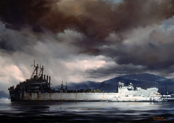 Approaching Storm<br> USS Windham<br>
