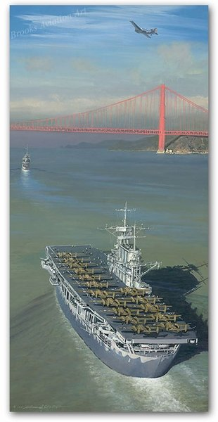 "Approaching The Gate to Destiny<br> by Bill Phillips<br>  <b style= ""color: blue; font-weight:bold,"">    Doolittle Raid<br></b>"