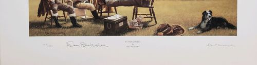 "<big><center> ""At Readiness"" by Alec Macdonald<br>signed by Top Ace Don Blakeslee</big></center><br/>"