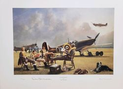 <big><center> �At Readiness� by Alec Macdonald<br>signed by Top Ace Don Blakeslee</big></center><br/>
