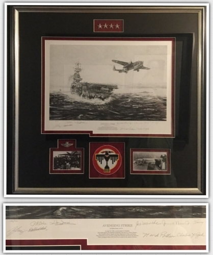 "<big><center>'AVENGING STRIKE"" by ROBERT BAILEY<br>EIGHT Doolittle Raider Signatures</big></Center><br>"