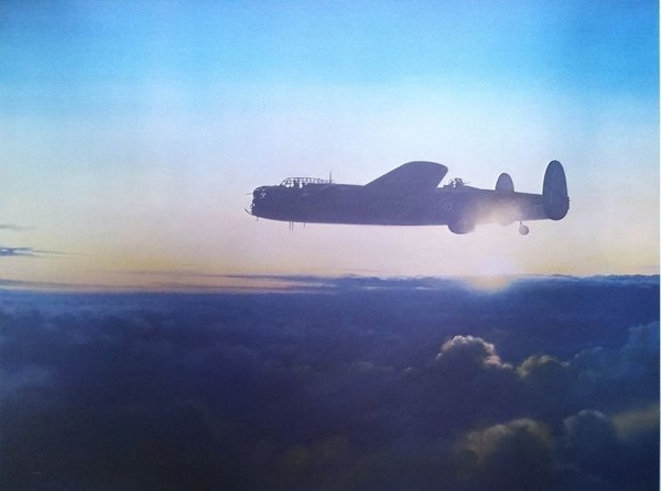 Avro Lancaster - Final Mission  By John Young<br> Signed By Leonard Cheshire, VC
