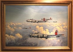 """B-17 Flying Fortresses"" by Ron Lackenby<br>  $2,950<br>"
