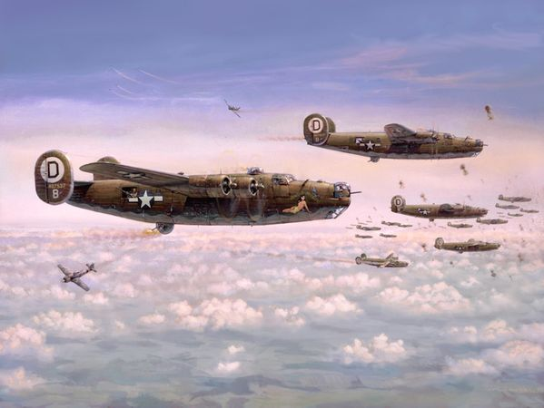 B-24 Liberators <br> By Jim Laurier