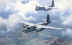 "B-26 ""Groupe Bretagne"" by Roy Grinnell"