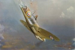 Bader Bale Out <br> By Frank Wootton<br>$995<br>Douglas Bader Signed