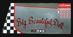 BIG BEAUTIFUL DOLL - P-51  Nose Art Panel by GARY VELASCO
