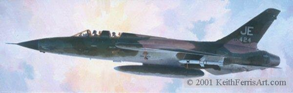 BIG BRASS ONES by KEITH FERRIS <br> F-105<br>