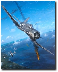 F-4 U CORSAIR/ BLACK SHEEP SQUADRON by JOHN SHAW