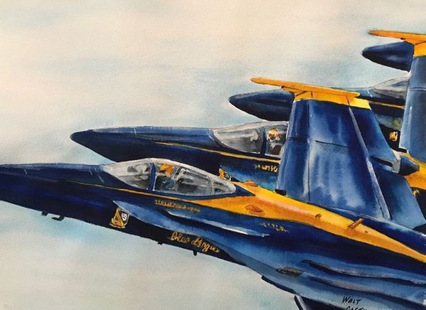 "<big><center> ""Blue Angels"" by Walt Costilow</big></center>"