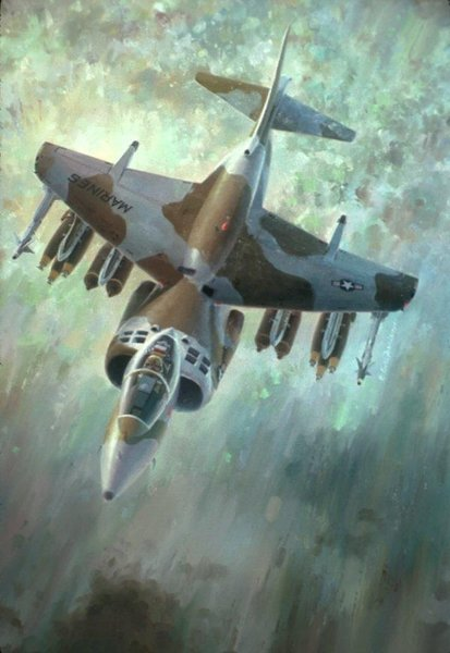 Breathe Easier<br>By Keith Ferris <br> AV-8B Harrier<br>