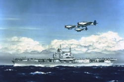 BT-1s Over USS Enterprise - CV-6<br>