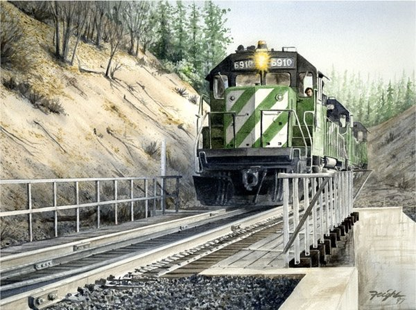 Burlington Northern <br>by Don Feight