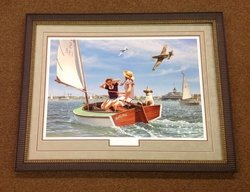 Buzzin The Bay <br> By Stan Vosburg<br> Framed