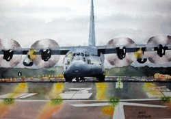 C-130 Wet Runway by NEW ARTIST Walt Costilow