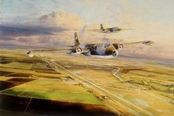 Canberras Over Cambridgeshire by Robert Taylor