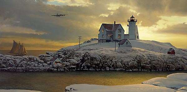 CAPE NEDDICK DAWN by BILL PHILLIPS  -  $195<br>One of Bill's Most Gorgeous Prints<br>