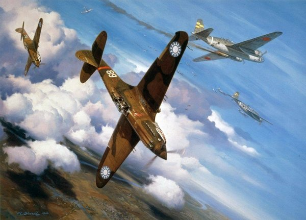 Christmas Over Rangoon<br> Signed By Chuck Older and 3 P-40 Aces<br>