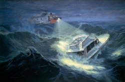 COAST GUARD RESCUE by PAUL RENDEL