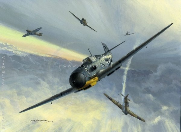 COMBAT OVER MALTA by MARK POSTLETHWAITE