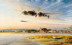 Coming In Over The Estuary by Robert Taylor<br> Getting low Inventory