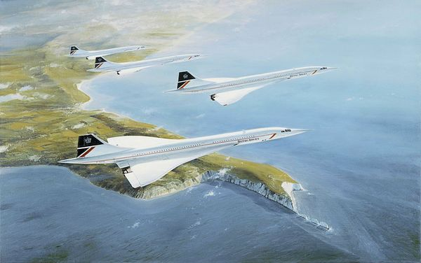 "CONCORDE - LOW HOLDING OVER SAN JACONTO <b style= ""color: red;font-weight:bold,"">     NEW GICLEE CANVAS RELEASE </b>  by ROBERT TAYLOR"