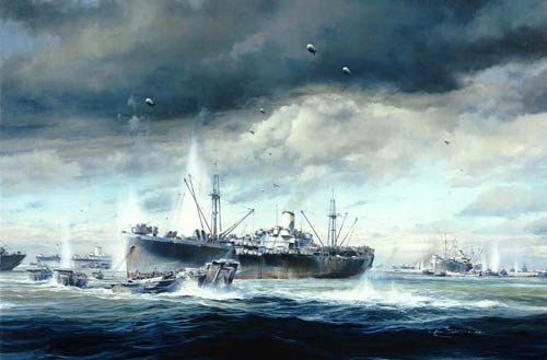 D-Day Normandy Landings by Robert Taylor