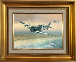 D-DAY SPITFIRE - ORIGINAL OIL by DARRYL LEGG - Johnnie Johnson