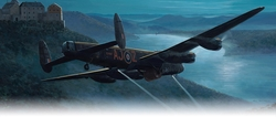 DAMBUSTERS APPROACHING THE EDER DAM by MARK POSTLEHWAITE<br> New Release <br>