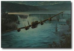 """<big><center> """"Dambusters""""<br> by Anthony Saunders<br>Two Dambusters Signatures</big></center>"""