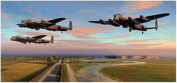 DAMBUSTERS - DUSK DEPARTURE by MARK POSTLETHWAITE