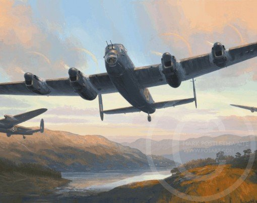 DAMBUSTERS - TRAINING SORTIE by MARK POSTLETHWAITE