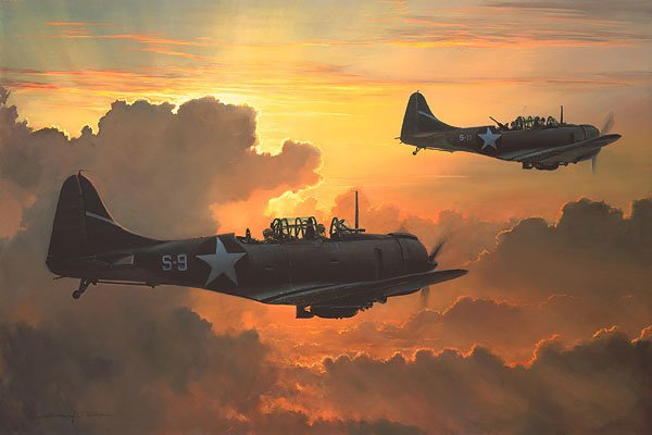 Dauntless Against The Rising Sun<br> Anniversary Canvas Edition<br> By Bill Phillips