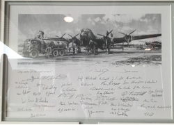 """<big> """"Day Duties for the Night Workers""""<br> by Robert Taylor<br> 54 Lancaster Aircrew Signatures!"""