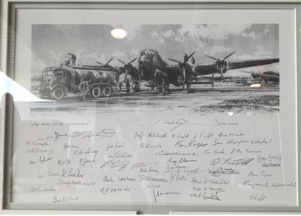 "<big> ""Day Duties for the Night Workers""<br> by Robert Taylor<br> 54 Lancaster Aircrew Signatures!"