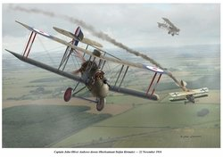 DH-2 -  Oliver Vs Kiermier <BR> NEW GICLEE RELEASE<br> By Jim Laurier