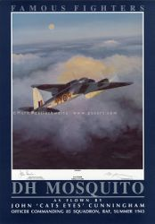 "DH MOSQUITO by MARK POSTLETHWAITE   -     <br> Signed by John ""Cats Eyes"" Cunningham"