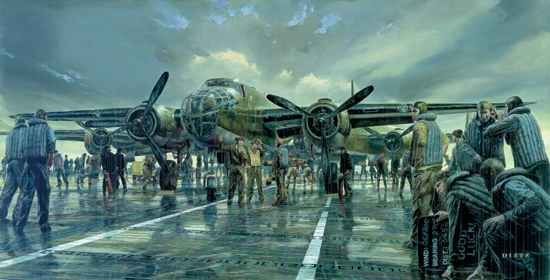 "Early Launch <br> By James Dietz<br> <b style= ""color: blue; font-weight:bold,"">   Doolittle Raid</b>"