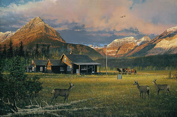 EARLY MORNING VISITORS by BILL PHILLIPS <br>ONLY 2 LEFT<br></b>