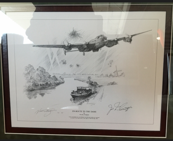 """<center><big> """"En-Route to the Dams"""" by Nicolas Trudgian<br>Publisher's Proof 3/5<br>Dambuster Signature</center></big>"""