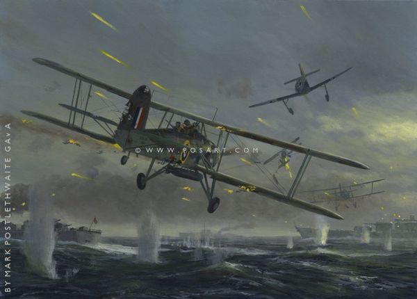 EXTRAORDINARY COURAGE by MARK  POSTLETHWAITE<br>Fairey Swordfish<br>