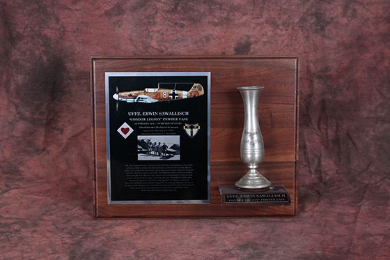 EXTREMELY RARE Condor Legion Vase from Notorious Luftwaffe Pilot – ERW