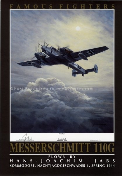 Fighter Aces Poster - Jans-Joachim Jabs<br>