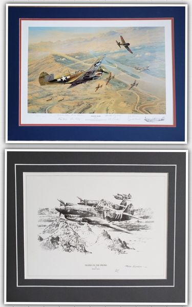 """<big><center> """"Fighting Tigers"""" and """"Tigers on the Prowl"""" Folio Set<br> by Robert Taylor</big></center><br> This folio set of prints has matching numbers and is sold as a set.<br>"""