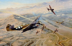 Fighting Tigers by Robert Taylor<br> w/5 AVG signatures<br>