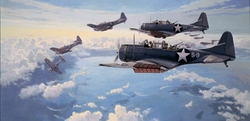 FIRST HIT AT  MIDWAY by PAUL RENDEL- SBD Dauntless - $135