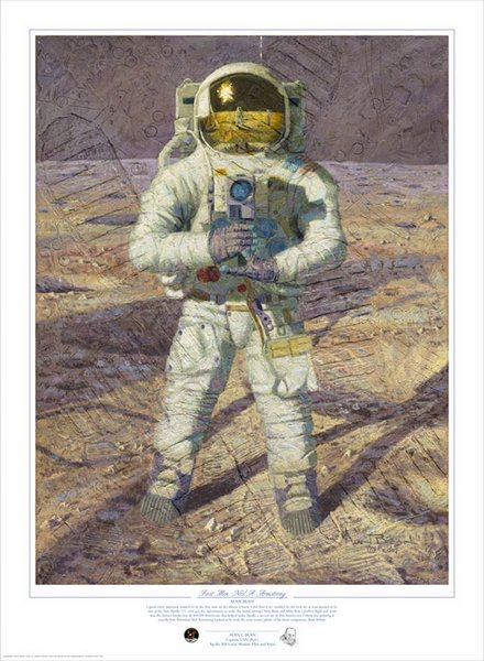 First Men: Neil Armstrong by Alan Bean
