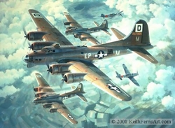 FORTRESSES ENGAGED by KEITH FERRIS<br> 100th Bomb Group<br>