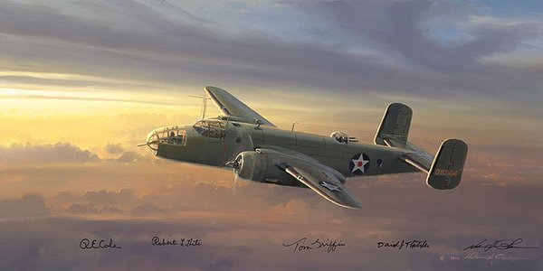 FUEL STATE CRITICAL - OUTCOME IN DOUBT by BILL PHILLIPS <br>Doolittle Raider Signatures