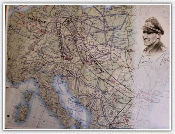 <big><center>Günter Rall signed map of Germany</big></center>